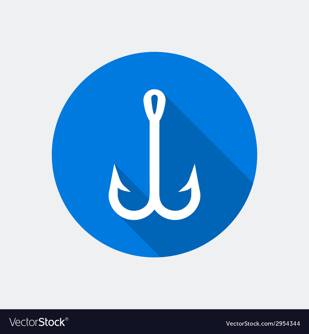 Fish hook icon vector | Price: 1 Credit (USD $1)