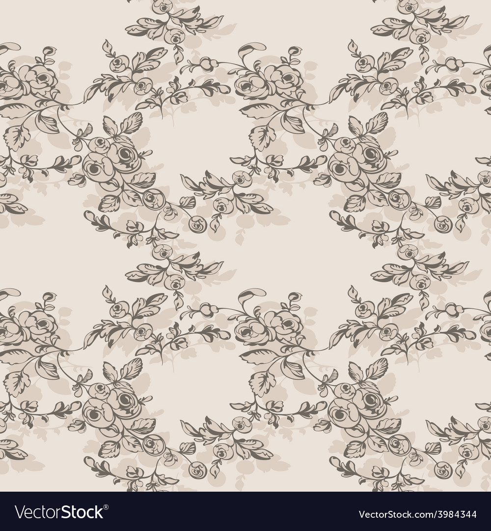 Floral seamless rose rustic vector | Price: 1 Credit (USD $1)