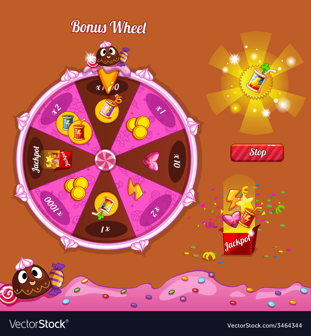 Fortune wheel for the game interface vector | Price: 3 Credit (USD $3)