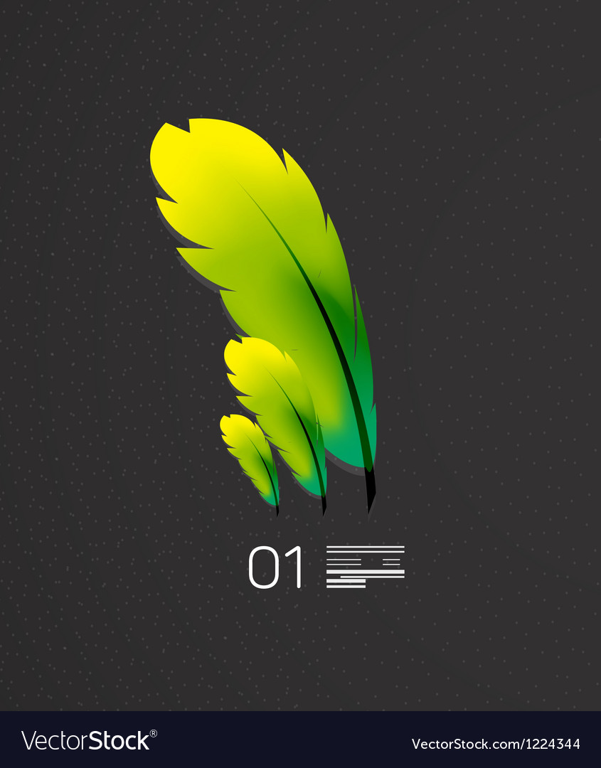 Green feather  nature and birds concept vector | Price: 1 Credit (USD $1)