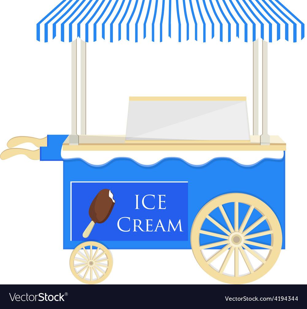 Ice cream blue cart vector | Price: 1 Credit (USD $1)