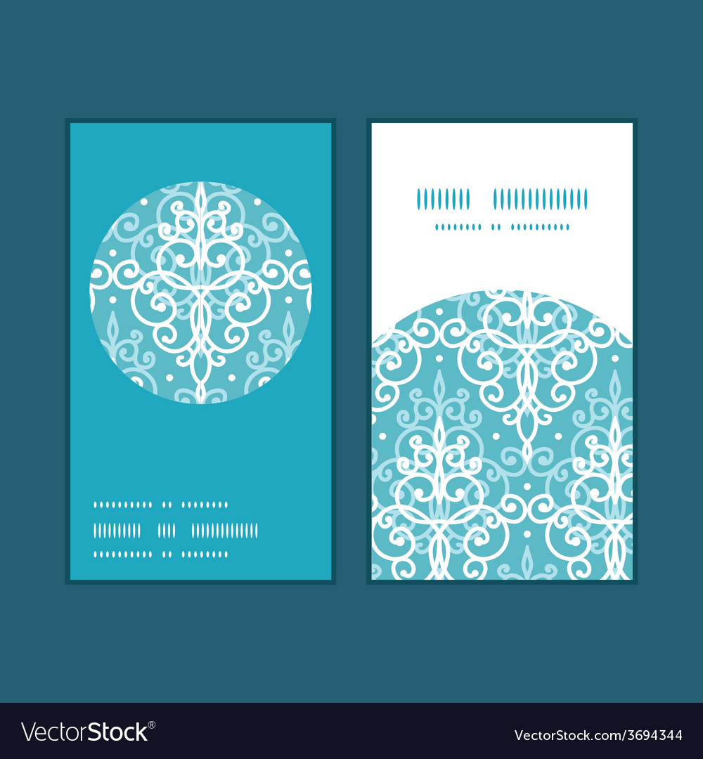 Light blue swirls damask vertical round vector | Price: 1 Credit (USD $1)