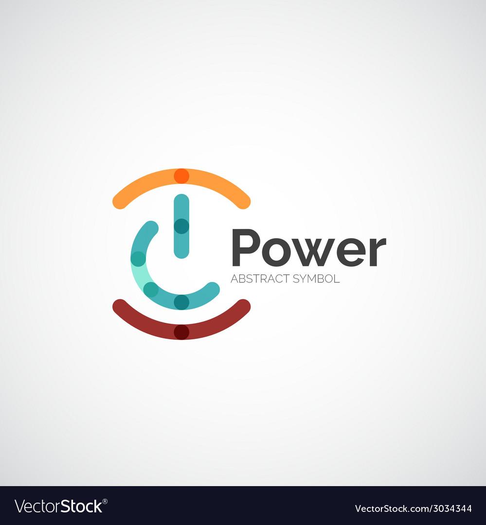 Power button logo design vector   Price: 1 Credit (USD $1)