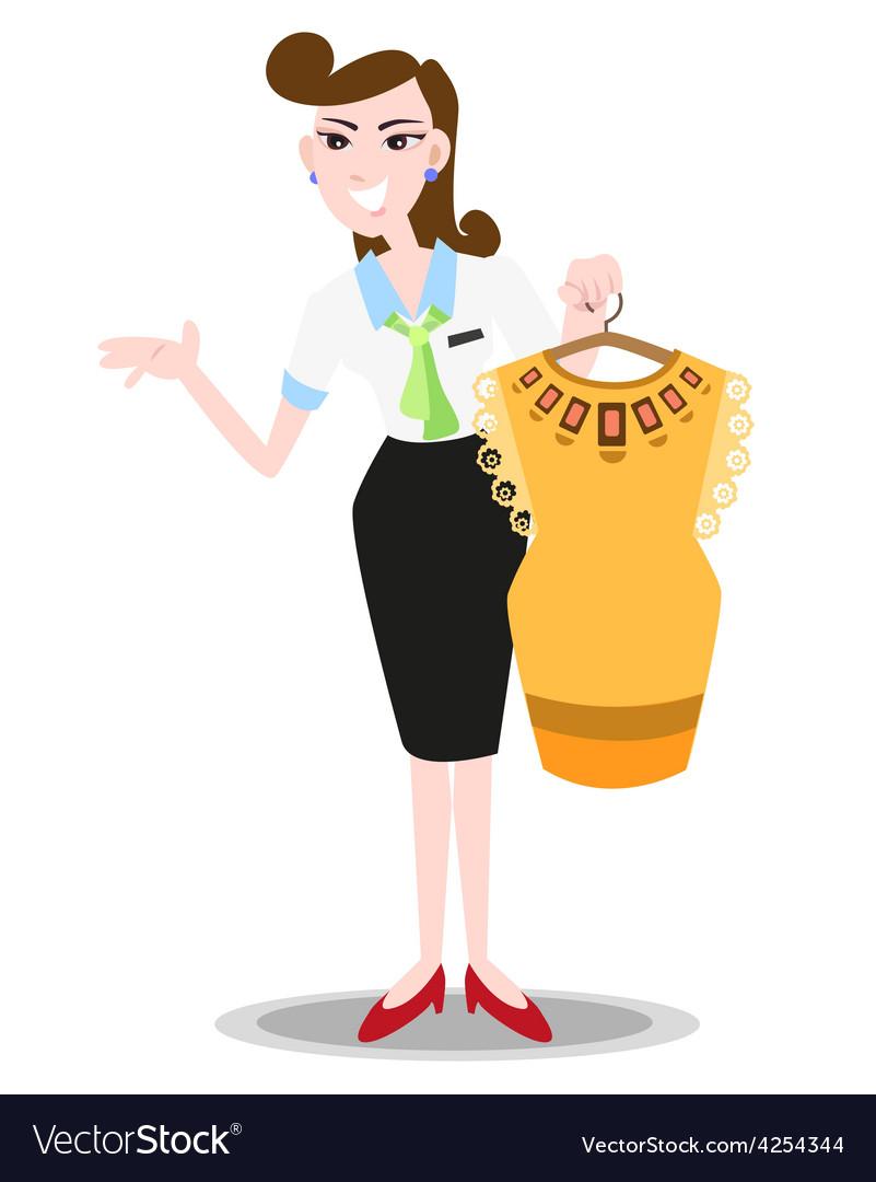 Sales clerk vector | Price: 1 Credit (USD $1)