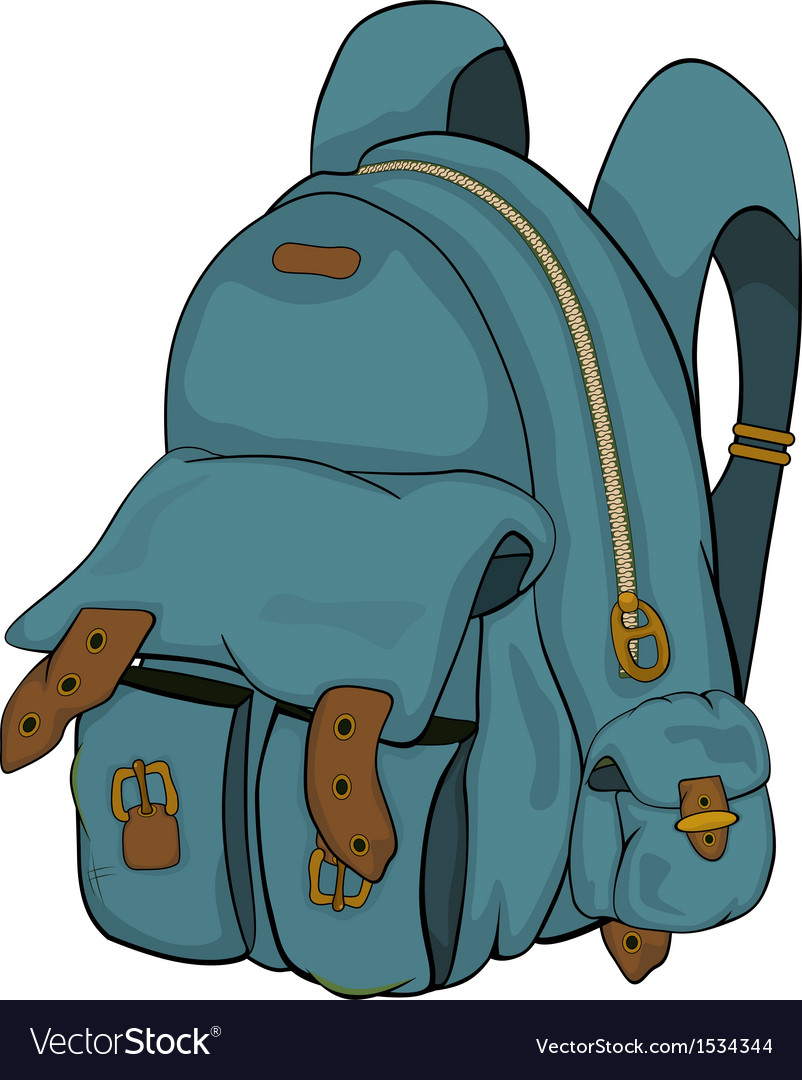 School backpack cartoon vector | Price: 1 Credit (USD $1)