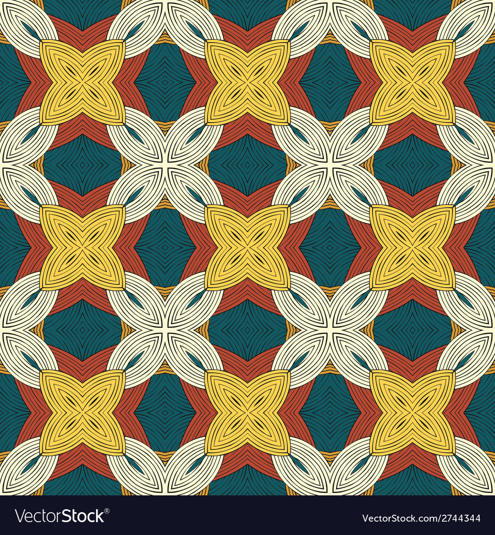 Seammless pattern with decorative ornament vector | Price: 1 Credit (USD $1)