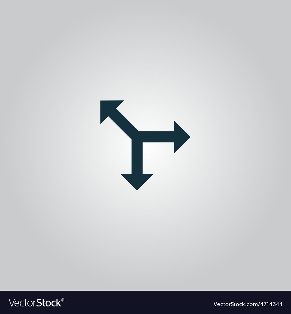 Three-way direction arrow vector | Price: 1 Credit (USD $1)