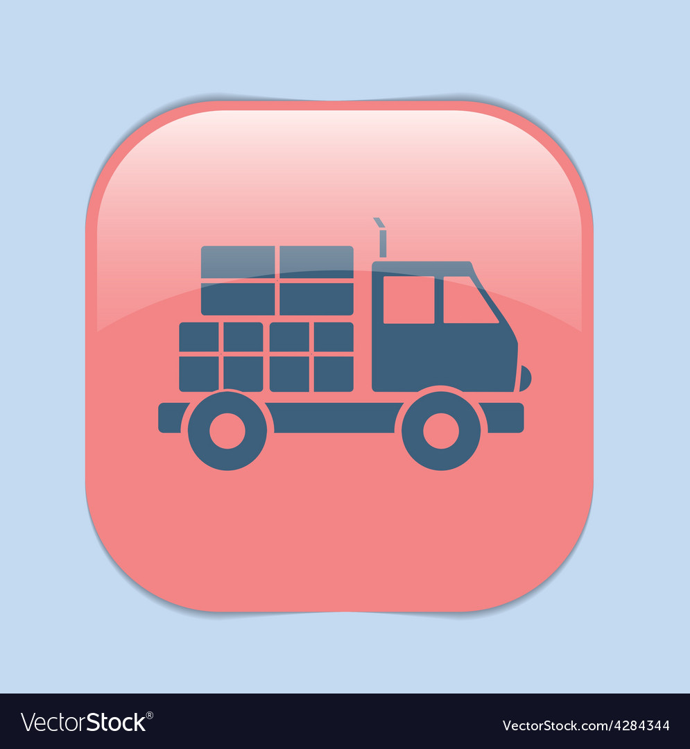 Truck logistic icon symbol icon laden truck vector   Price: 1 Credit (USD $1)