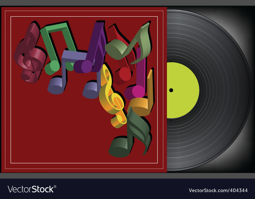 Vinyl cover vector | Price: 1 Credit (USD $1)