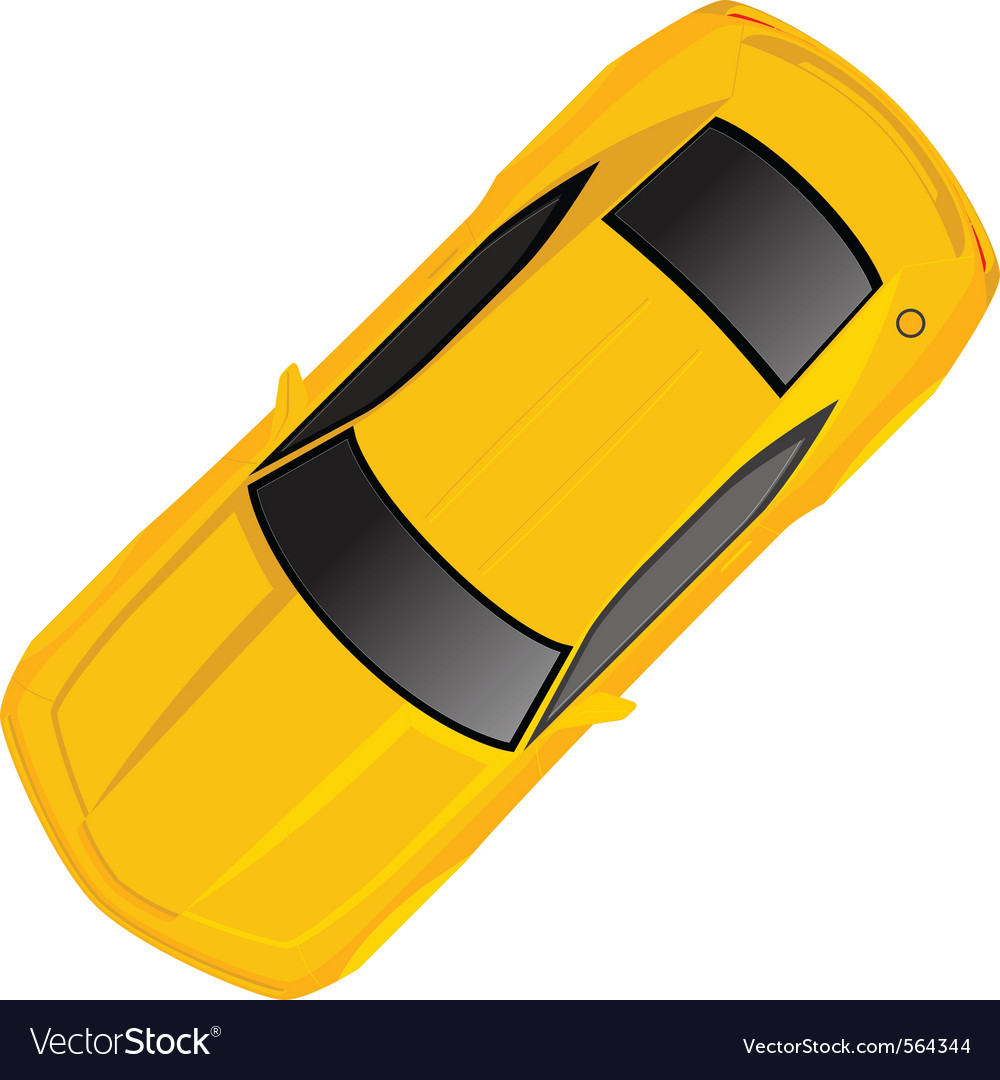 Yellow chevrolet camaro vector | Price: 1 Credit (USD $1)