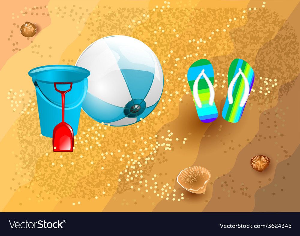 Beach supplies vector | Price: 1 Credit (USD $1)