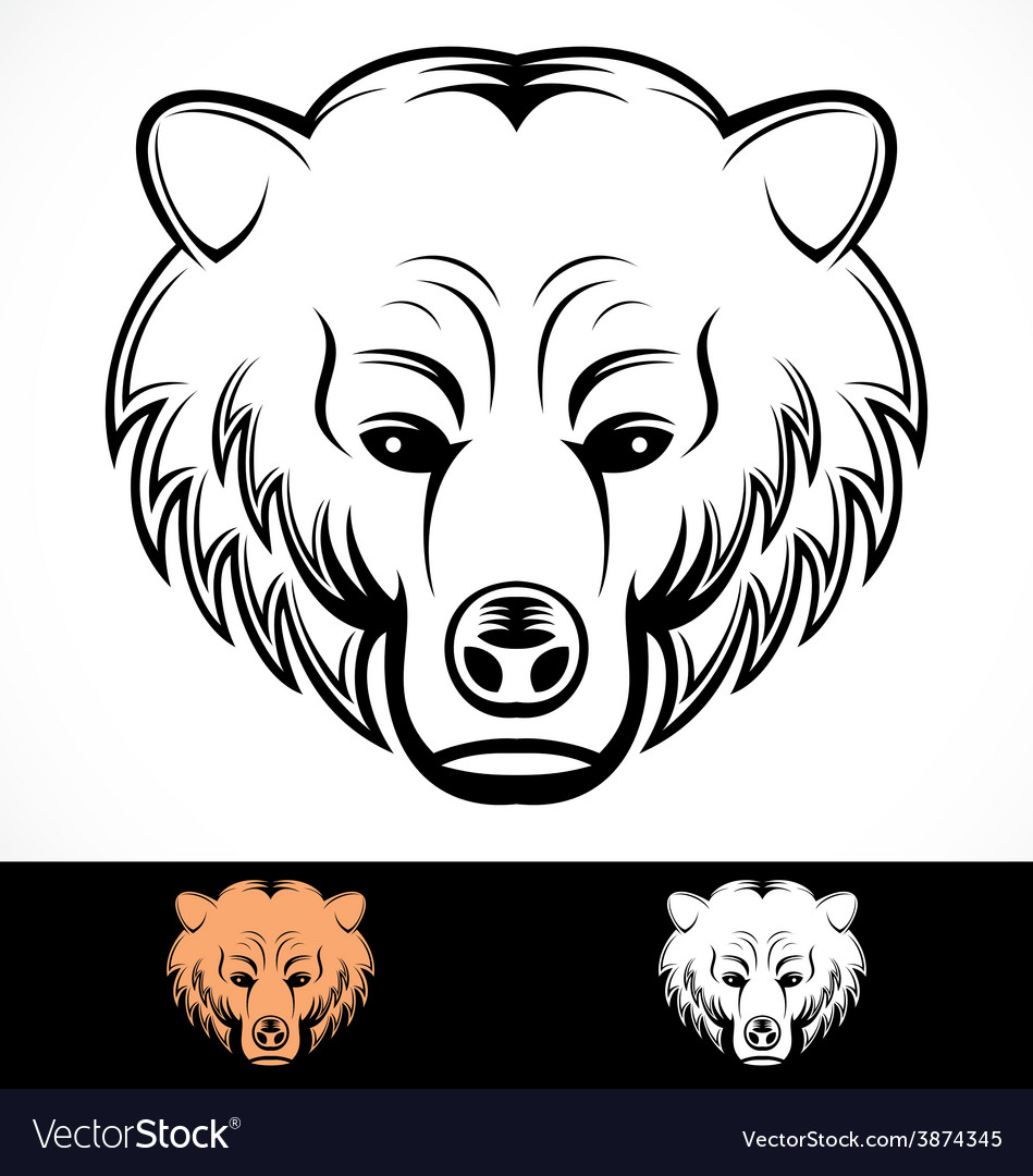 Bear head mascot vector | Price: 1 Credit (USD $1)