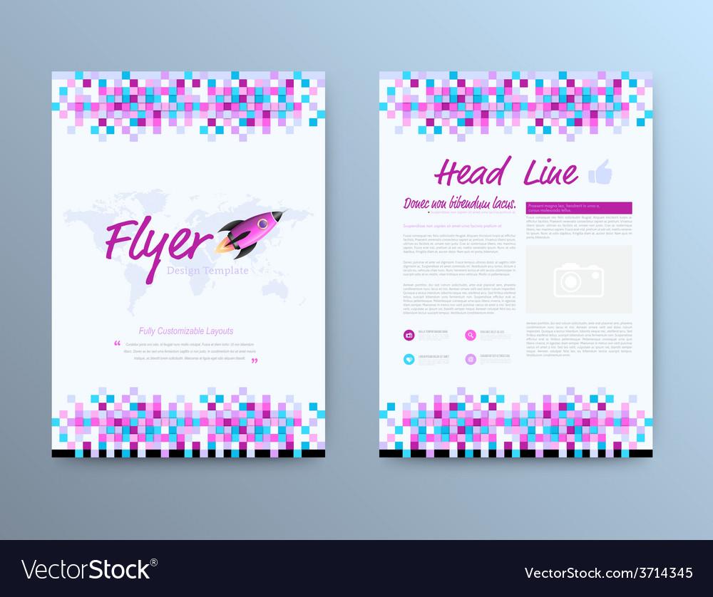 Brochure template design with rocket star vector   Price: 1 Credit (USD $1)