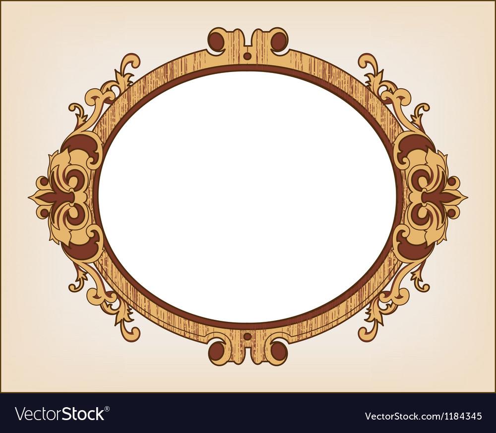 Decorative oval vintage frame vector | Price: 1 Credit (USD $1)