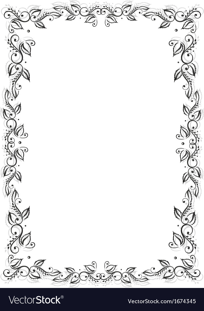 Frame leaves vector | Price: 1 Credit (USD $1)