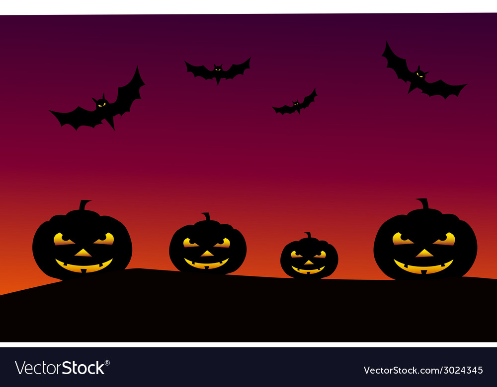Halloween background - vector | Price: 1 Credit (USD $1)