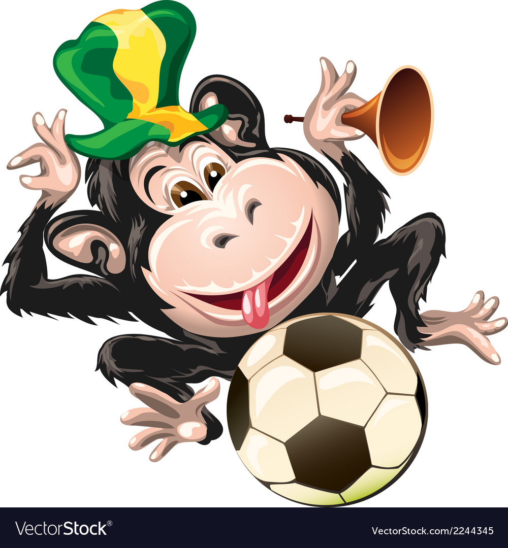 Monkey the fan vector | Price: 1 Credit (USD $1)