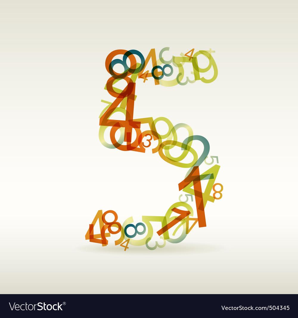 Number five vector | Price: 1 Credit (USD $1)