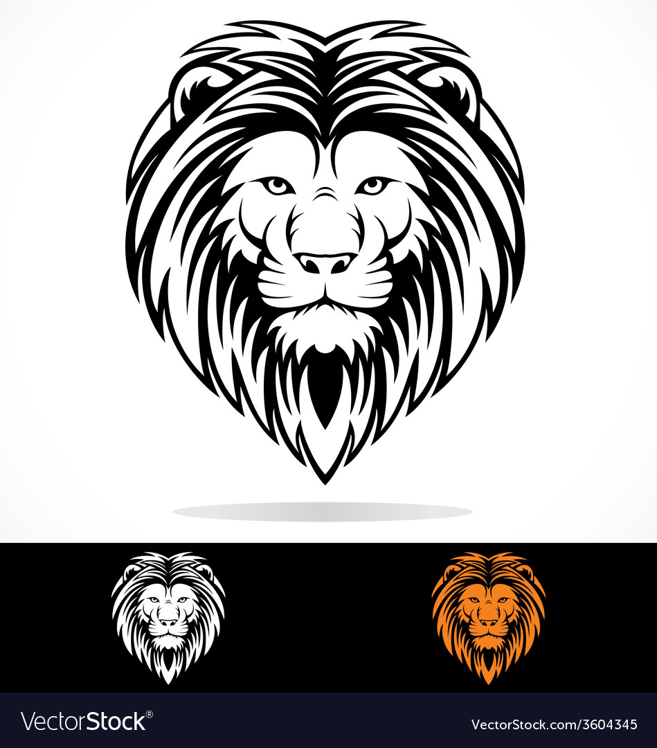 Tribal lions head vector | Price: 1 Credit (USD $1)