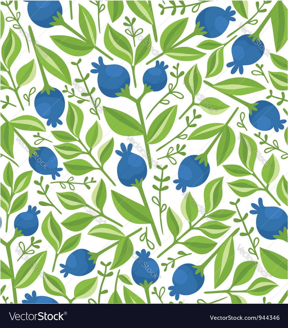 Berries pattern vector | Price: 1 Credit (USD $1)