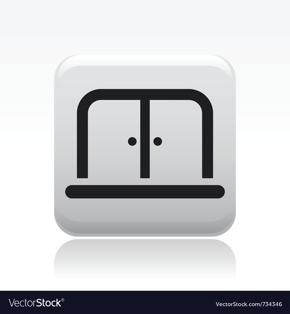Doors icon vector | Price: 1 Credit (USD $1)