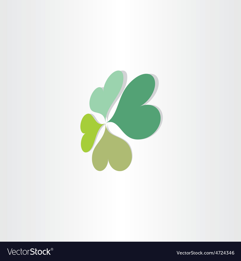 Four leafs clover luck symbol vector | Price: 1 Credit (USD $1)