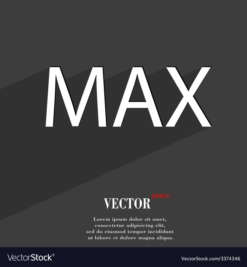 Maximum icon symbol flat modern web design with vector | Price: 1 Credit (USD $1)