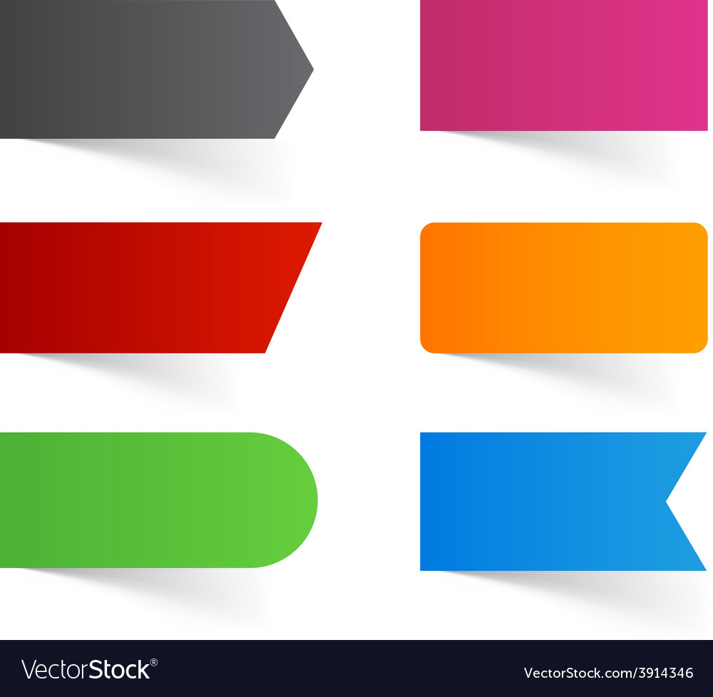 Paper labels vector | Price: 1 Credit (USD $1)