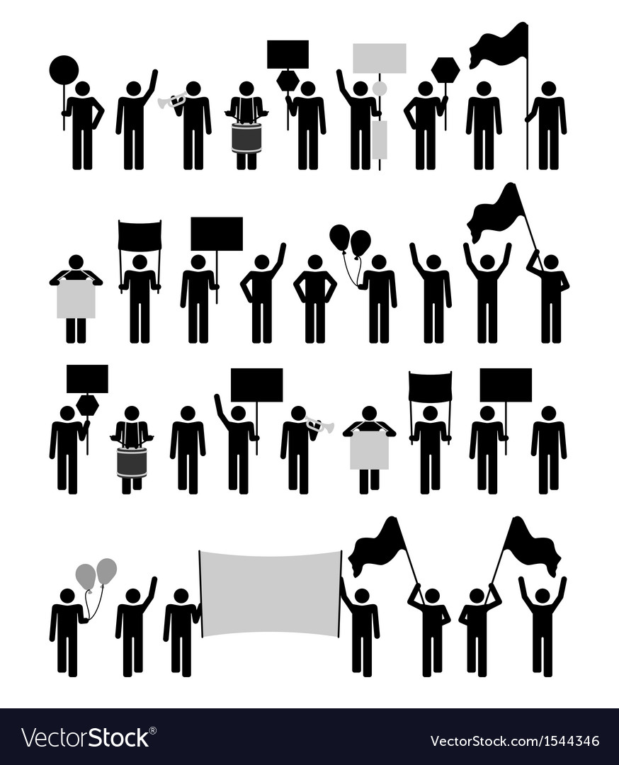 Protest - pictogram collection vector | Price: 1 Credit (USD $1)