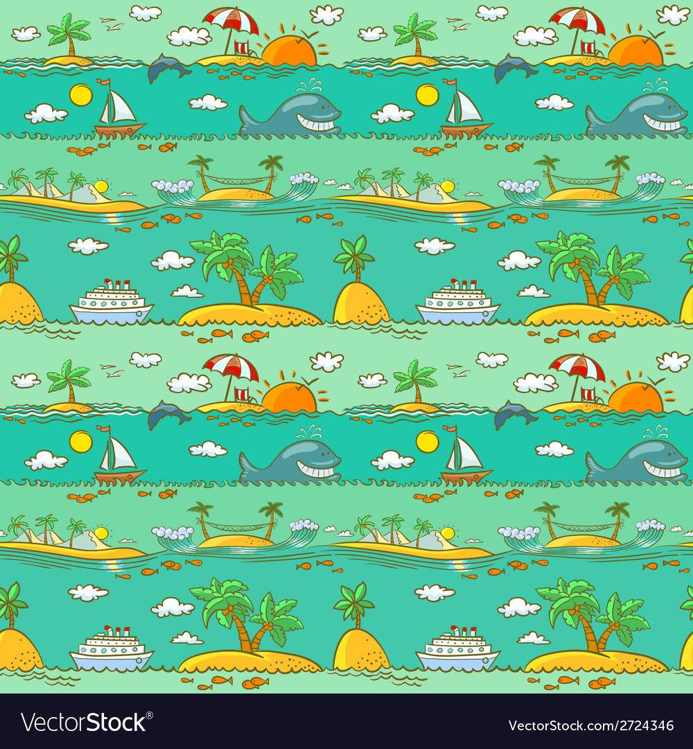Sea landscape vector | Price: 1 Credit (USD $1)