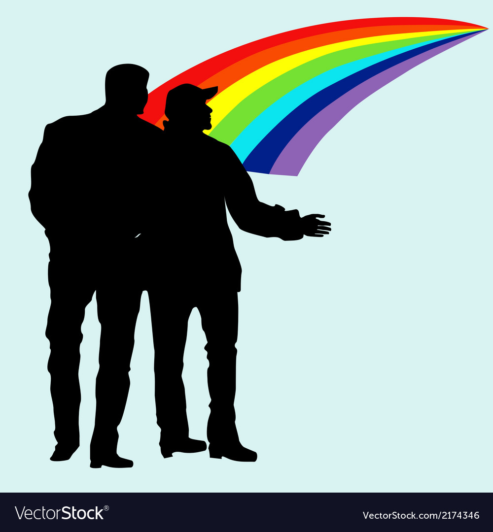Silhouettes of homosexuals vector | Price: 1 Credit (USD $1)
