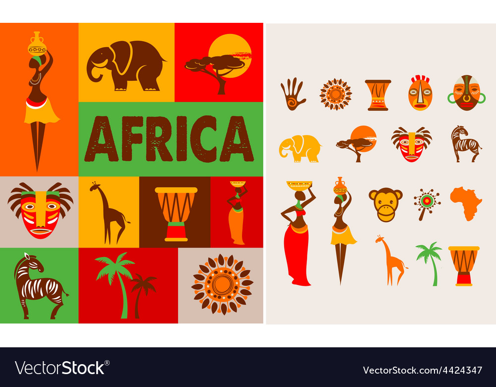 Africa  poster and background vector