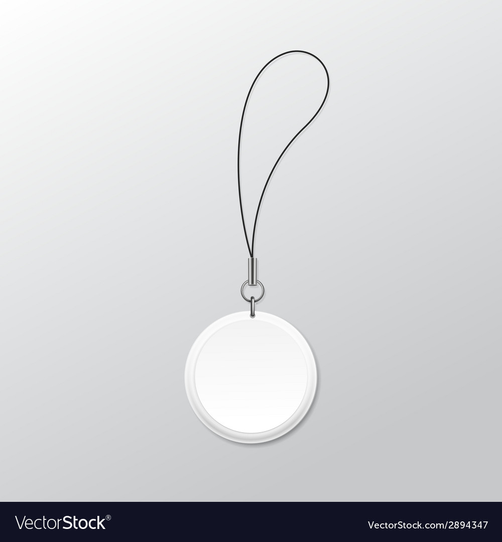 Blank round keychain with ring and string for key vector | Price: 1 Credit (USD $1)