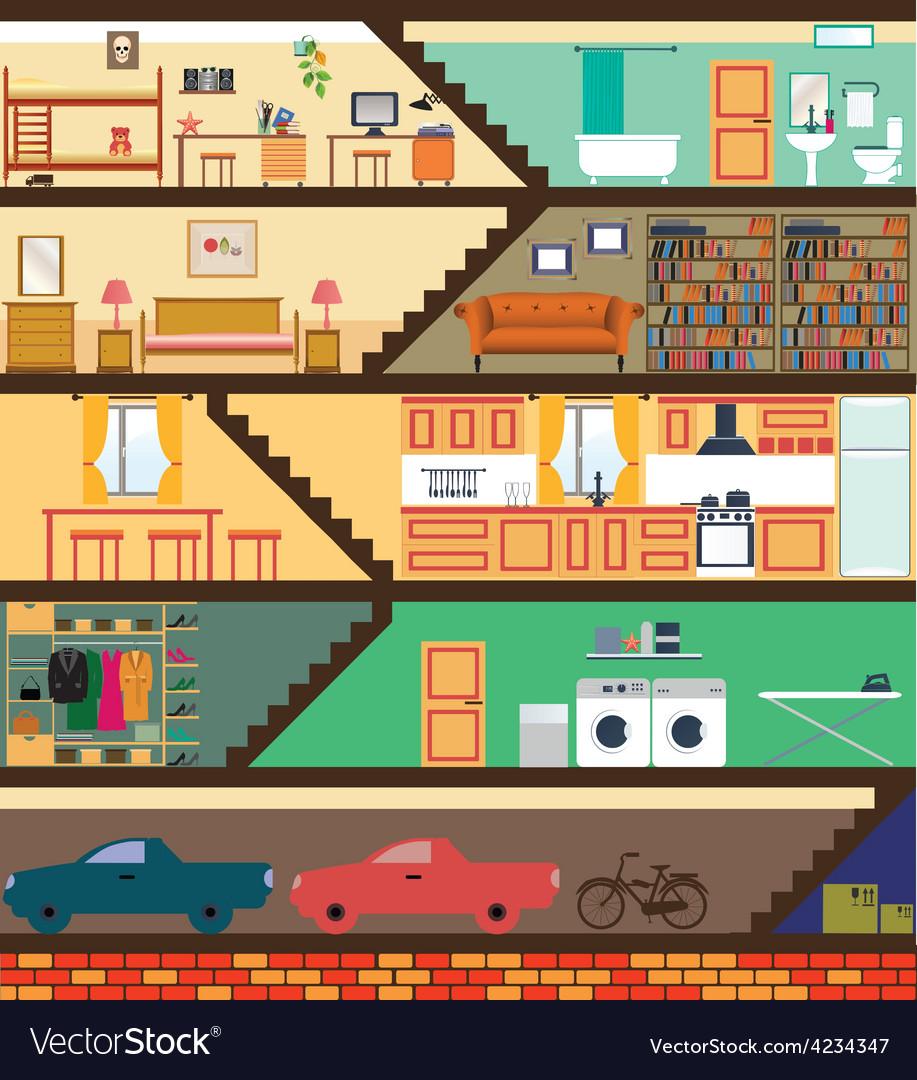 Cartoon family house vector | Price: 3 Credit (USD $3)