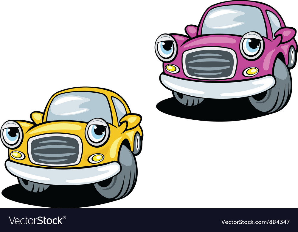 Funny cartoon cars with eyes vector | Price: 1 Credit (USD $1)
