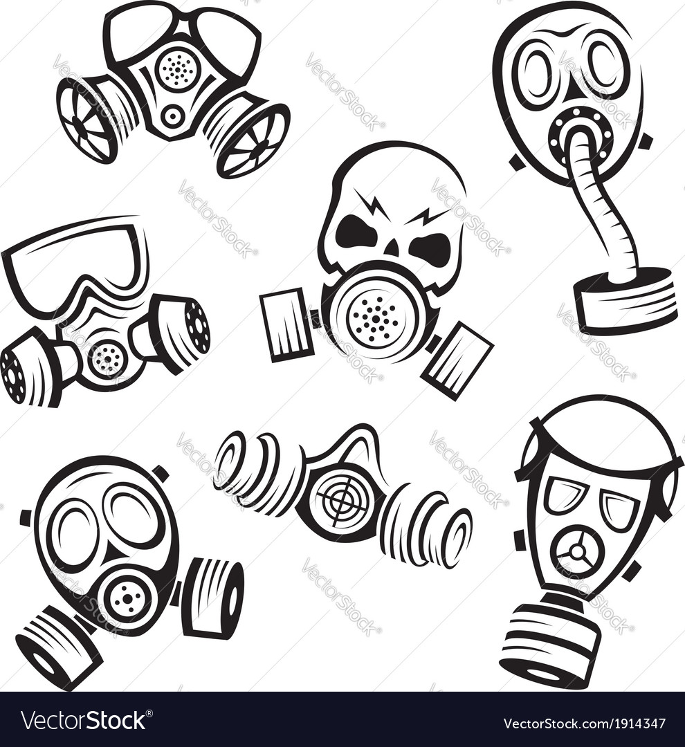 Gas masks vector | Price: 1 Credit (USD $1)