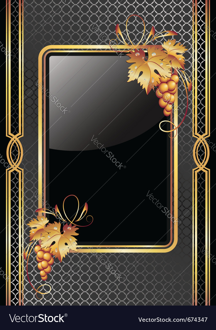 Golden vine ornament vector   Price: 3 Credit (USD $3)