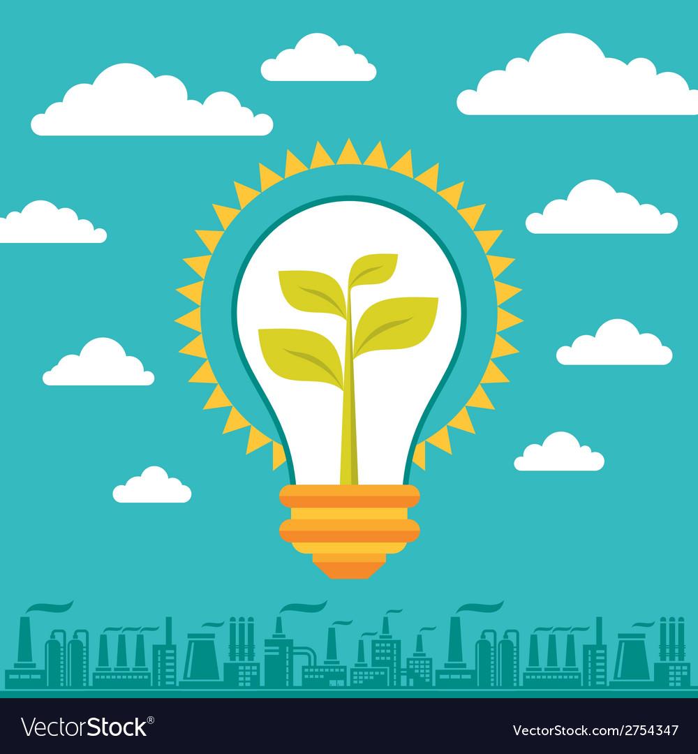 Light bulb green energy vector | Price: 1 Credit (USD $1)