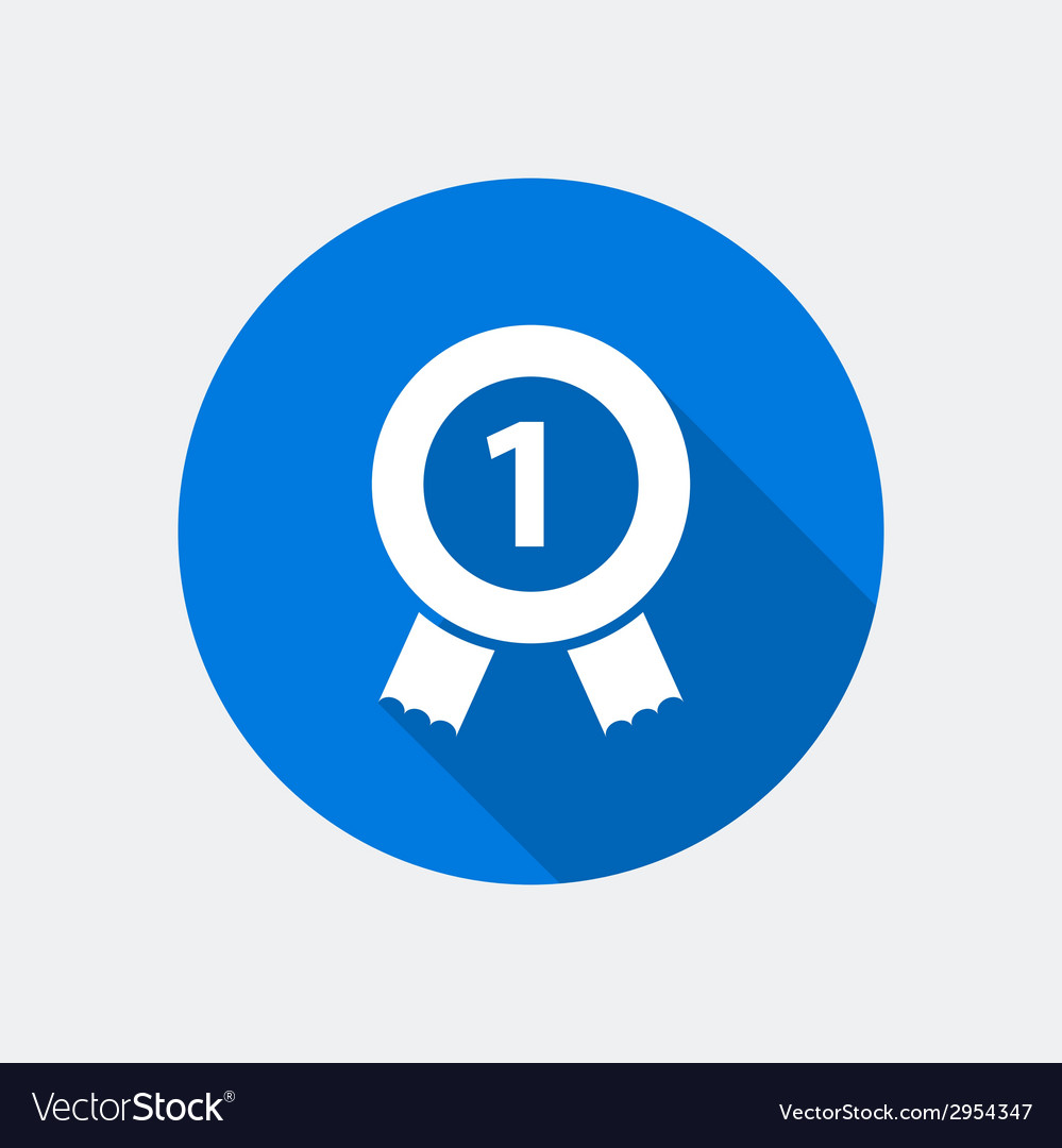 Number one icon vector | Price: 1 Credit (USD $1)