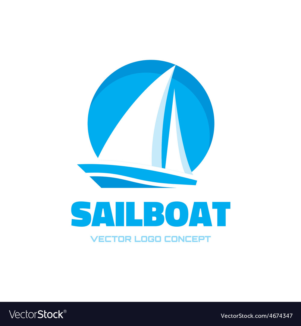 Sailboat - logo concept vector | Price: 1 Credit (USD $1)
