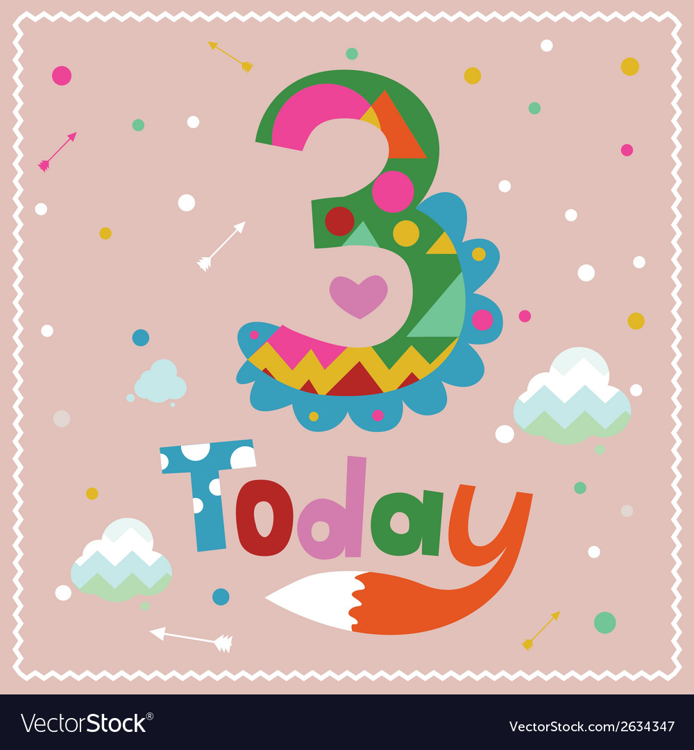 Today is 3 holiday card vector | Price: 1 Credit (USD $1)