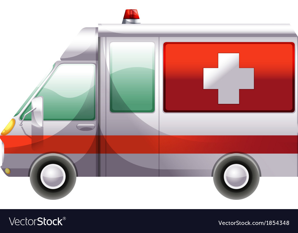 An ambulance vector | Price: 1 Credit (USD $1)