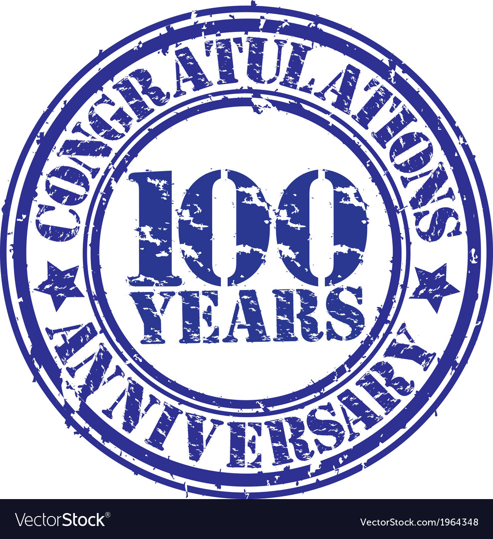 Cogratulations 100 years anniversary grunge rubber vector | Price: 1 Credit (USD $1)