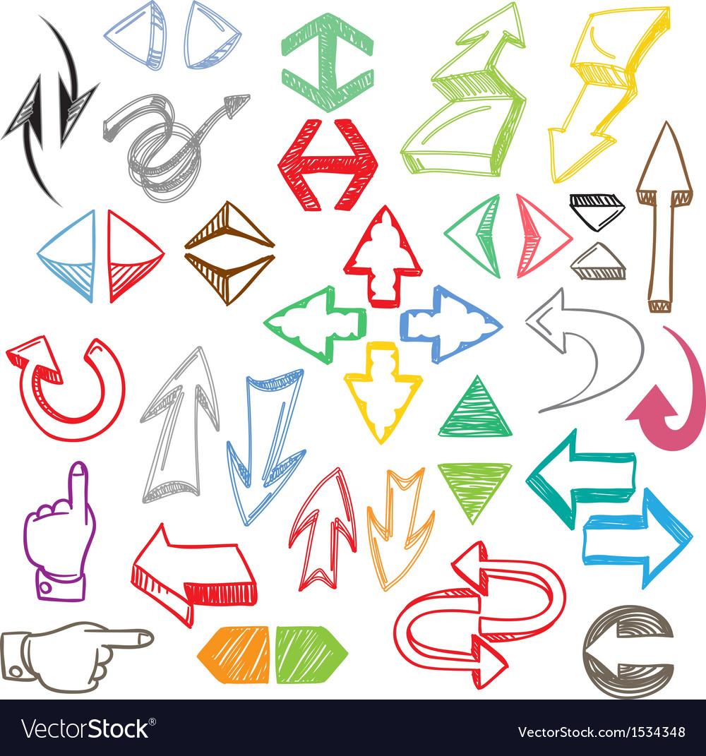 Color arrows collection vector | Price: 1 Credit (USD $1)