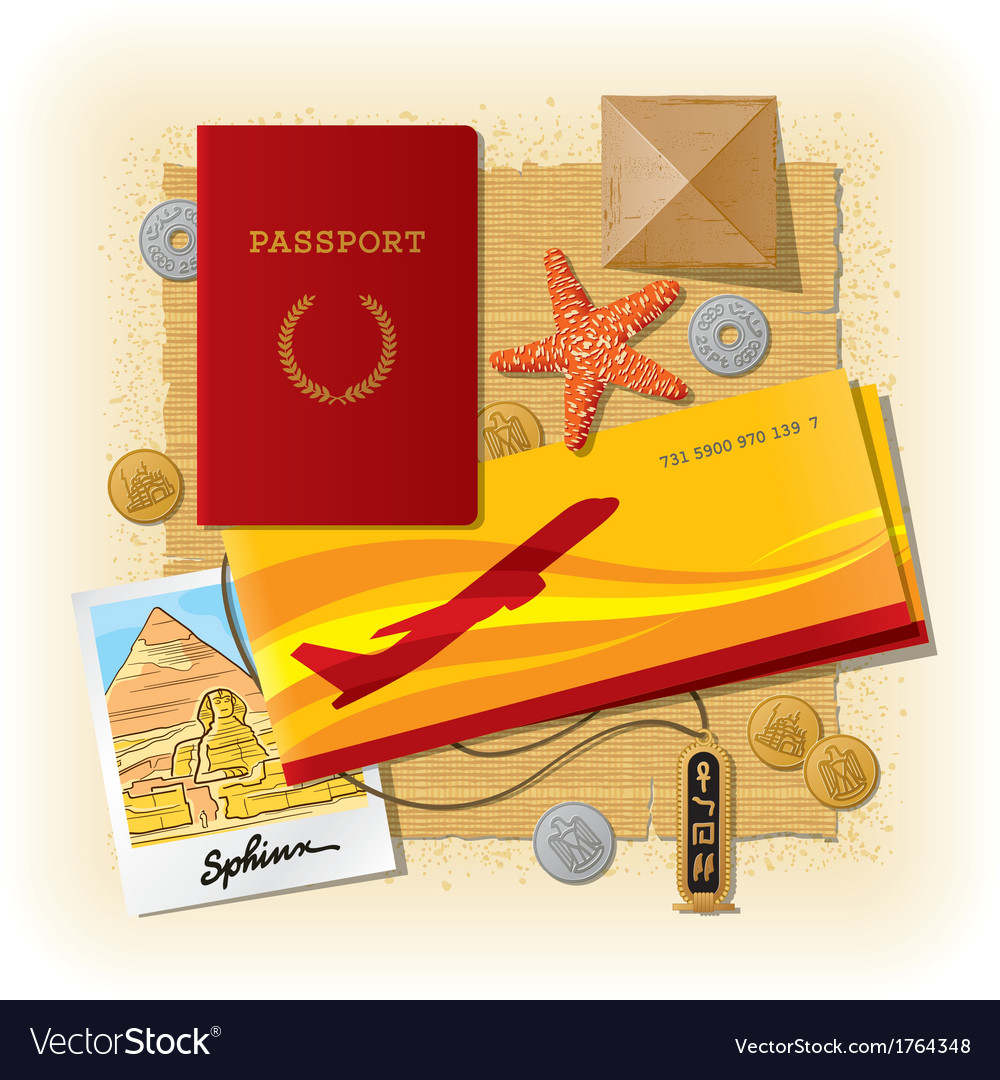 Egyptian travel still life vector | Price: 1 Credit (USD $1)