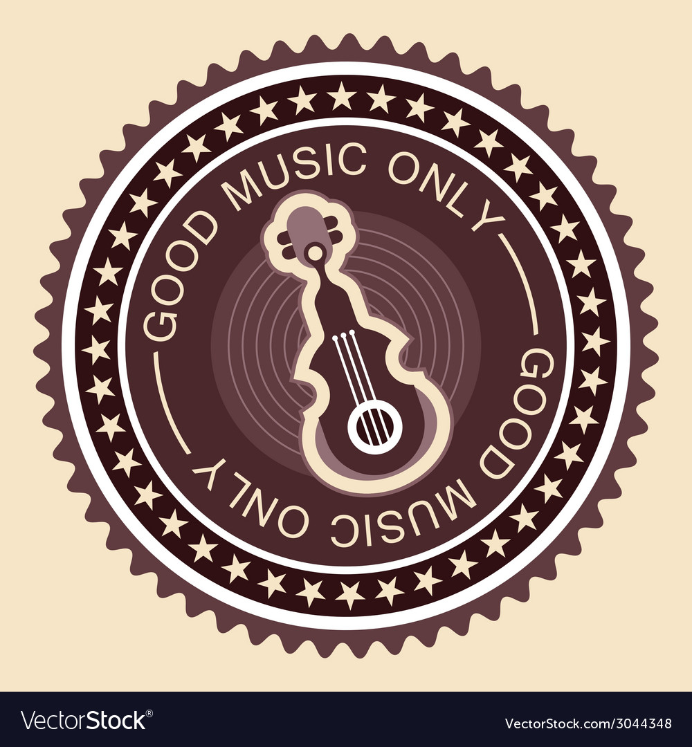 Good music label old fashioned vector | Price: 1 Credit (USD $1)