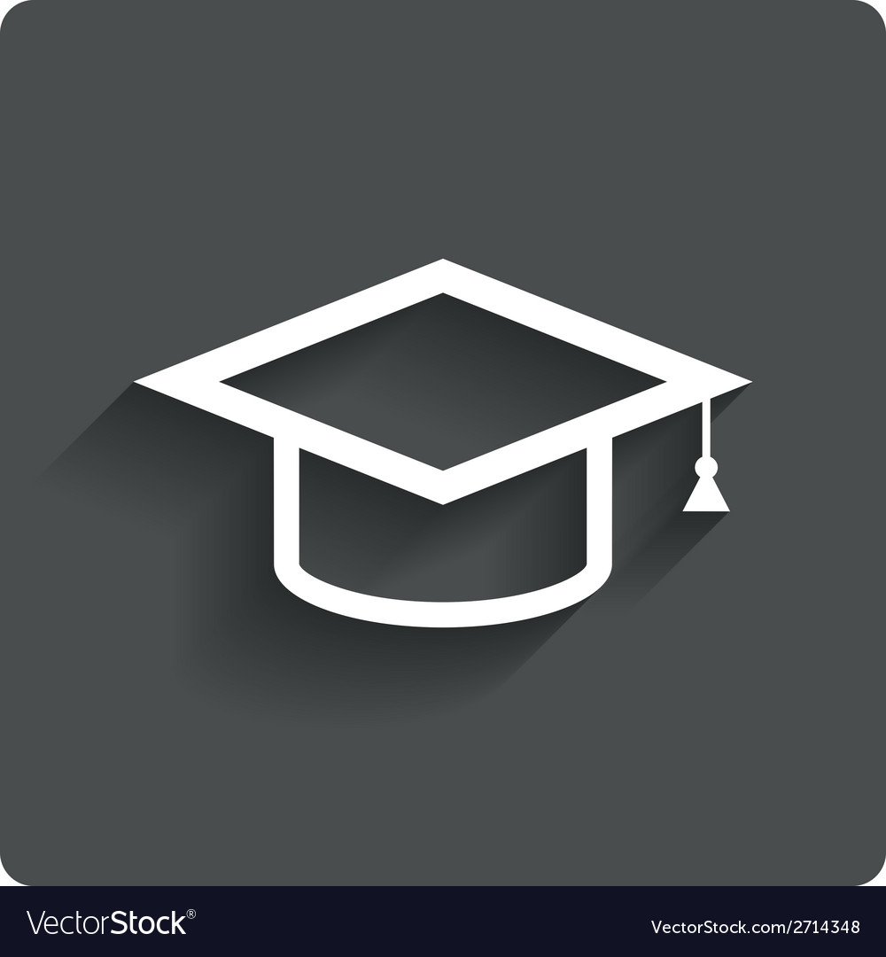 Graduation cap sign icon education symbol vector   Price: 1 Credit (USD $1)