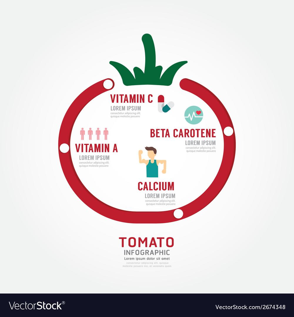 Infographic tomato health concept vector | Price: 1 Credit (USD $1)