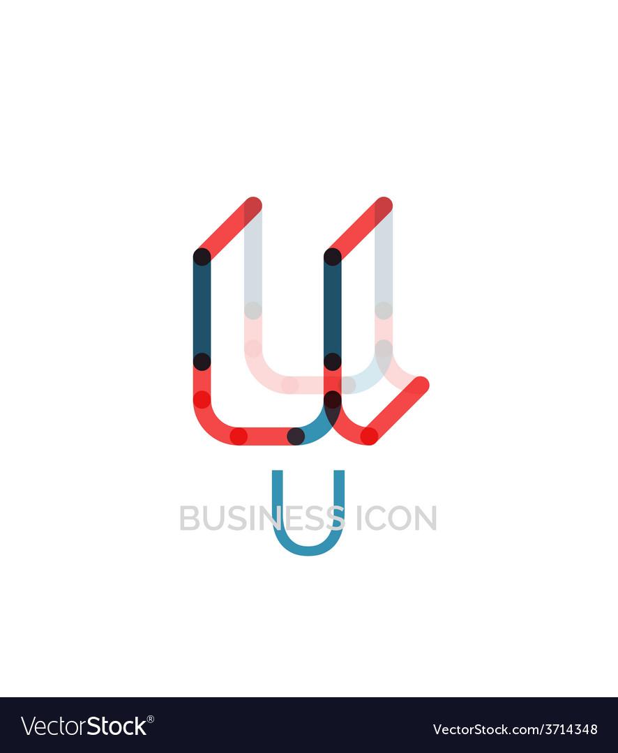 Minimal u font or letter logo design vector | Price: 1 Credit (USD $1)
