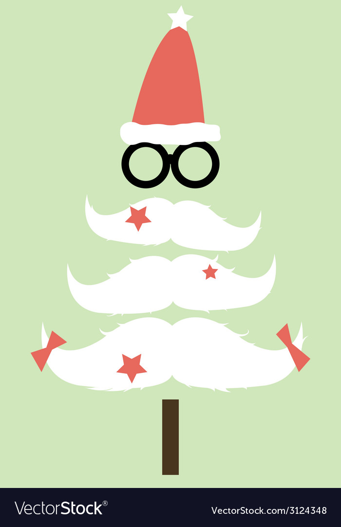 Moustaches christmas tree01 vector | Price: 1 Credit (USD $1)